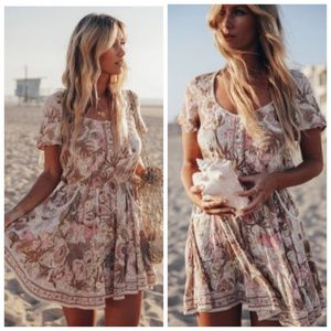 Boho Floral Jungle Mini Dress